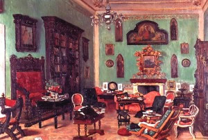 Mignaty painting of Casa Guidi drawing room